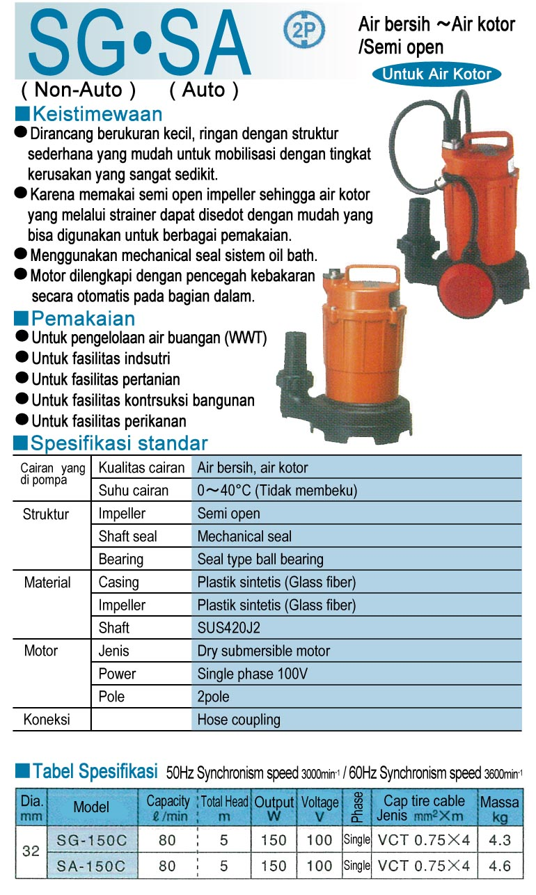 Submersible Pump SG - SA