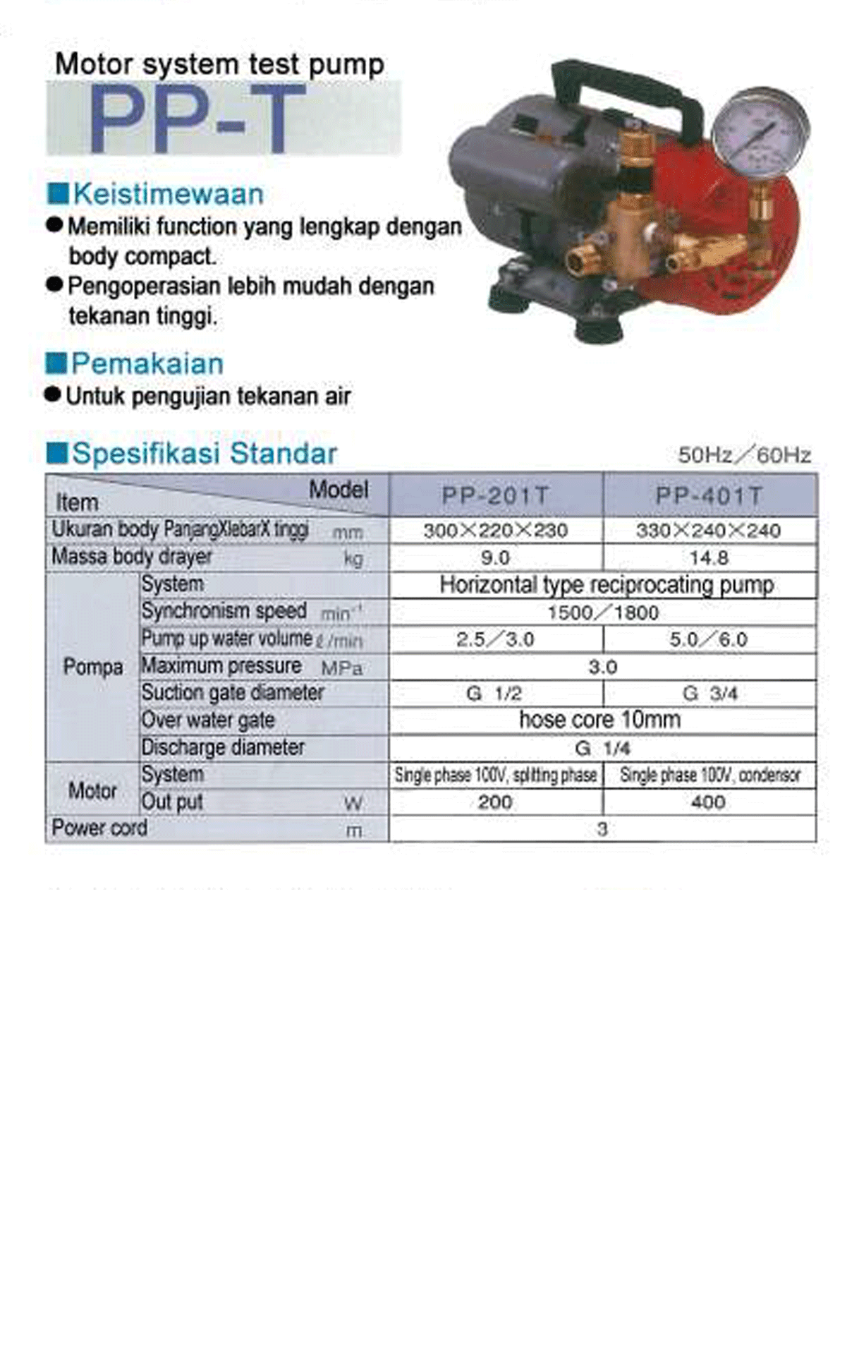 Test Pump PP-T