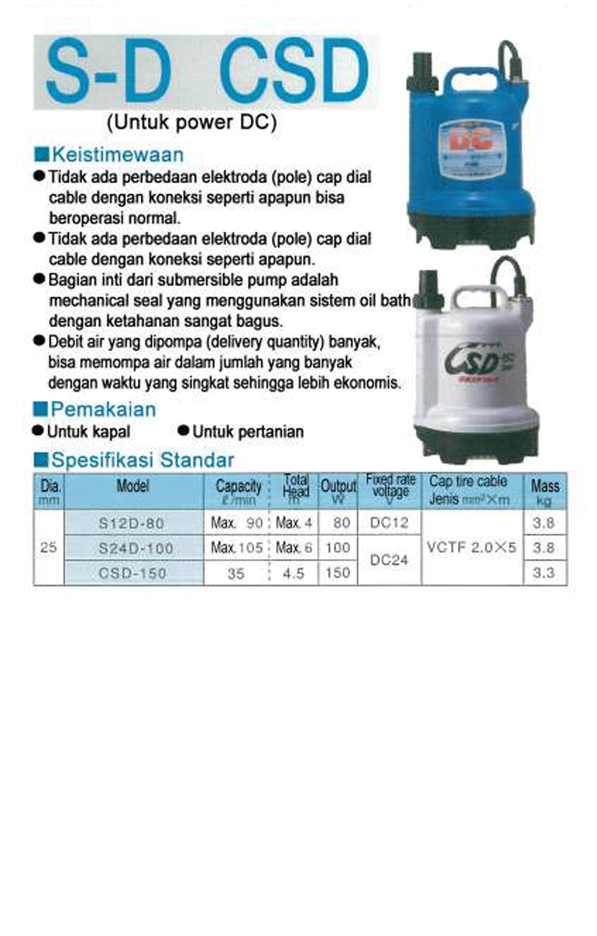 Test Pump S-D CSD